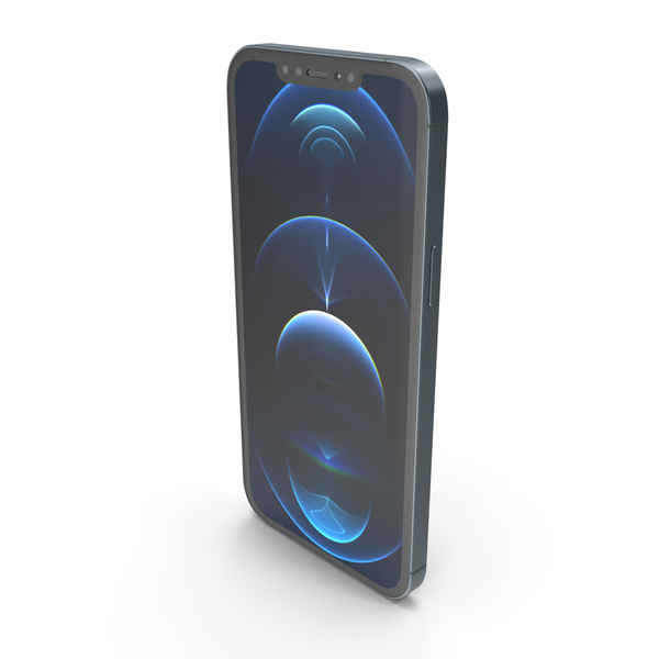 Apple iPhone 12 Pro Max Matte Blue PNG & PSD Images