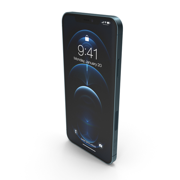 Apple iPhone 12 Pro Max Pacific Blue PNG & PSD Images
