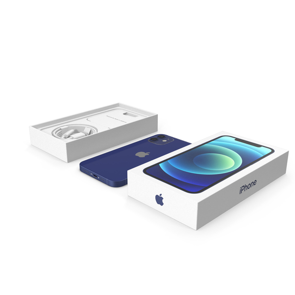 Smartphone: Apple iPhone 12 Unboxed Blue PNG & PSD Images