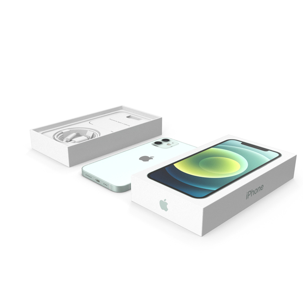 Smartphone: Apple iPhone 12 Unboxed Green PNG & PSD Images