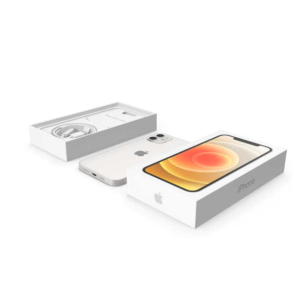 Smartphone: Apple iPhone 12 Unboxed White PNG & PSD Images