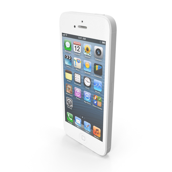 Smartphone: Apple iPhone 5 White PNG & PSD Images