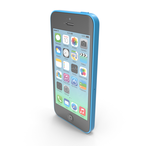 Apple iPhone 5c Blue PNG & PSD Images