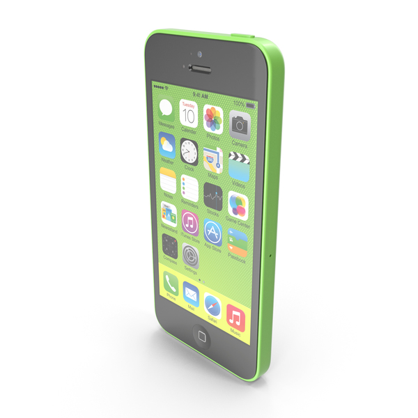 Apple iPhone 5c Green PNG & PSD Images