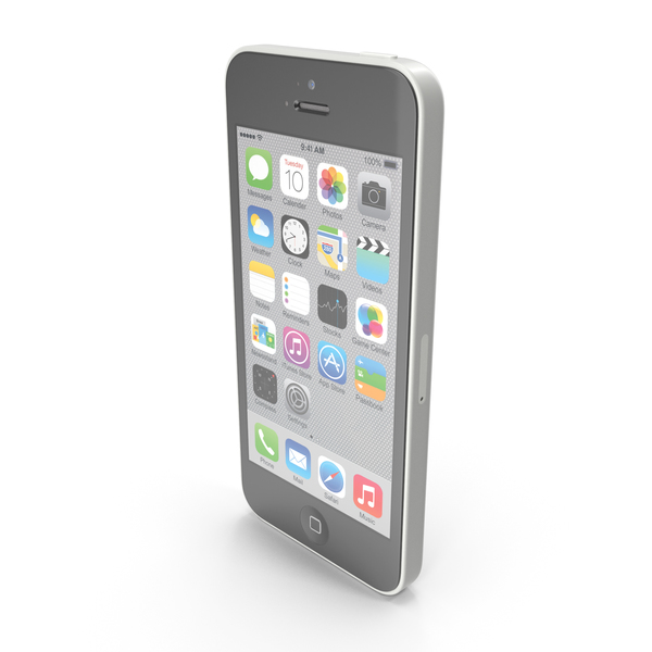 Apple iPhone 5c White PNG & PSD Images