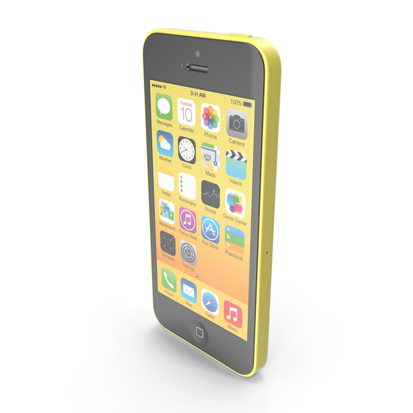 Apple iPhone 5c Yellow PNG & PSD Images