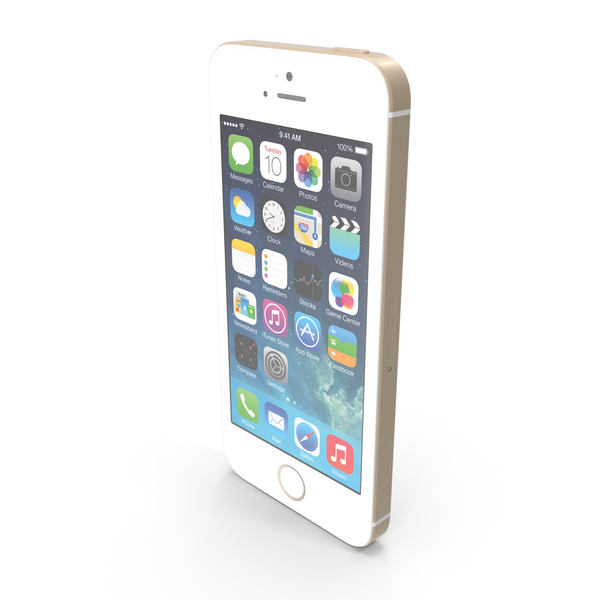 Apple iPhone 5s Gold PNG & PSD Images