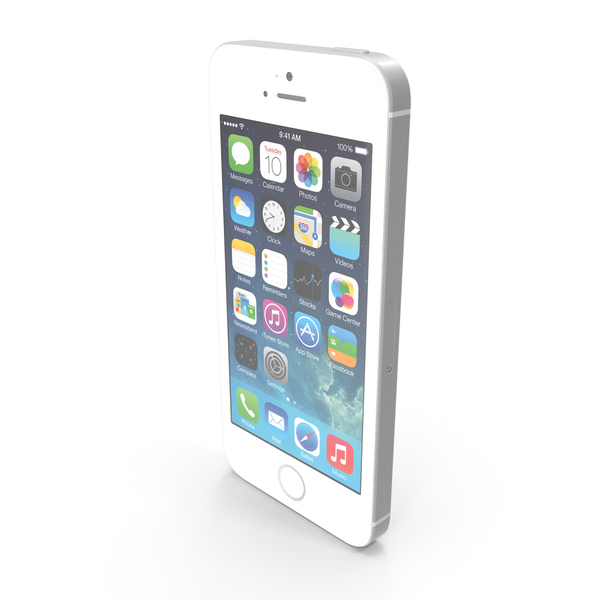 Apple iPhone 5s White or Silver PNG & PSD Images