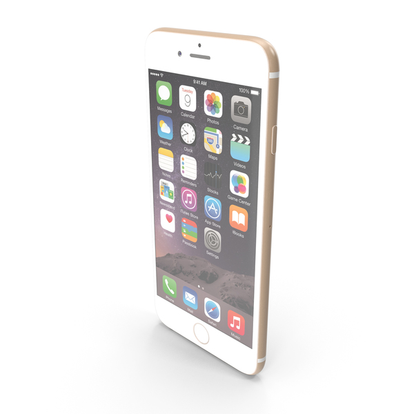 Smartphone: Apple iPhone 6 Gold PNG & PSD Images