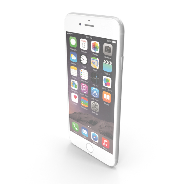 Smartphone: Apple iPhone 6 Plus Silver PNG & PSD Images