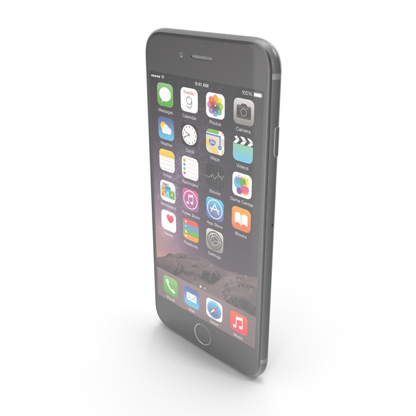 Smartphone: Apple iPhone 6 Plus Space Gray PNG & PSD Images