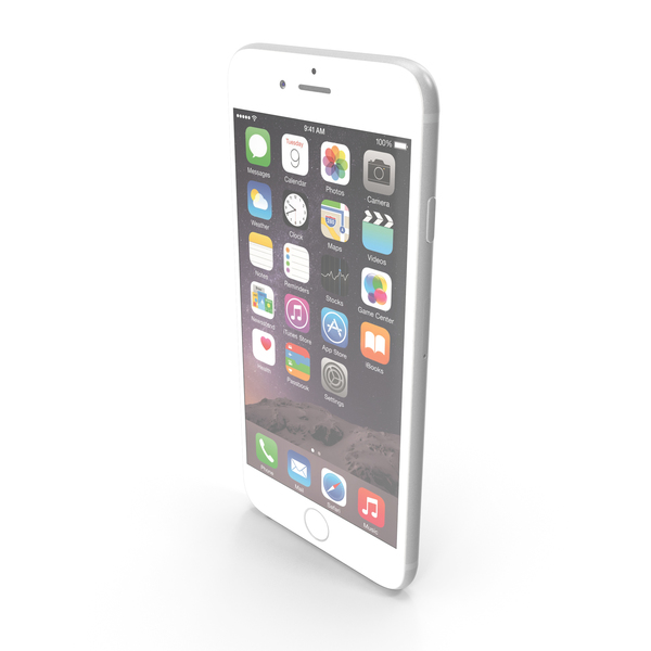 Smartphone: Apple iPhone 6 Silver PNG & PSD Images
