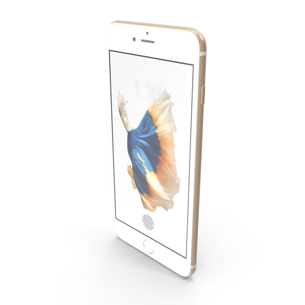 Apple iPhone 6s Plus Gold PNG & PSD Images