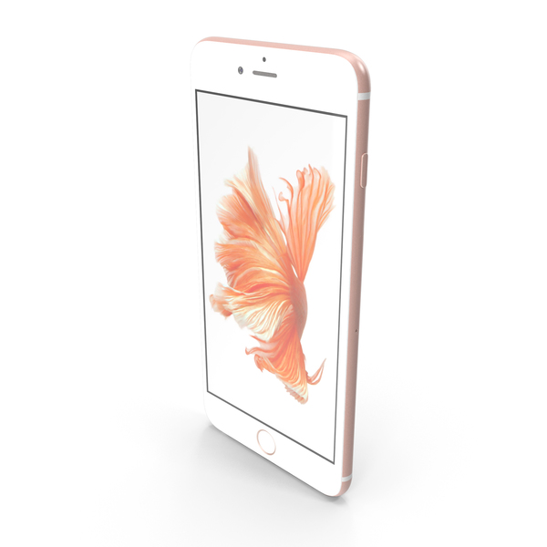 Smartphone: Apple iPhone 6s Plus Rose Gold PNG & PSD Images