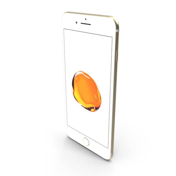 Apple iPhone 7 Plus Gold PNG & PSD Images