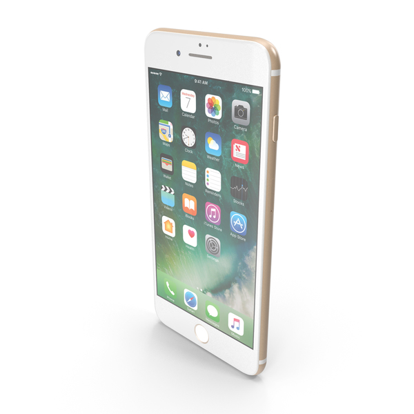 Smartphone: Apple iPhone 7 Plus Gold PNG & PSD Images
