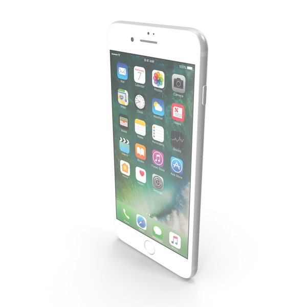 Apple iPhone 7 Plus Silver PNG & PSD Images