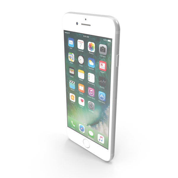 Apple iPhone 7 Silver PNG & PSD Images