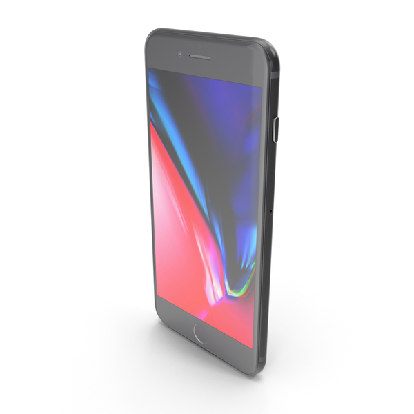 Smartphone: Apple iPhone 8 Plus Space Gray PNG & PSD Images