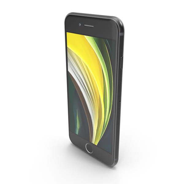 Apple iPhone SE 2020 Black PNG & PSD Images