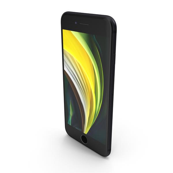 Apple iPhone SE (2020) Black PNG & PSD Images