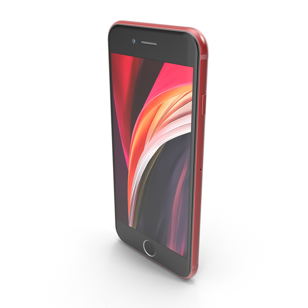 Apple iPhone SE 2020 Red PNG & PSD Images