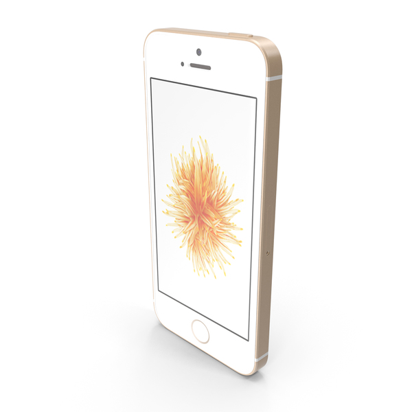 Apple iPhone SE Gold PNG & PSD Images