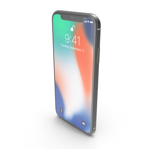Apple iPhone X Silver PNG & PSD Images