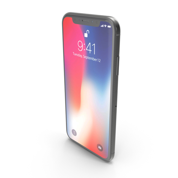 Apple iPhone X Space Gray PNG & PSD Images