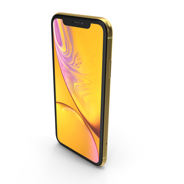 Apple iPhone Xr Yellow PNG & PSD Images