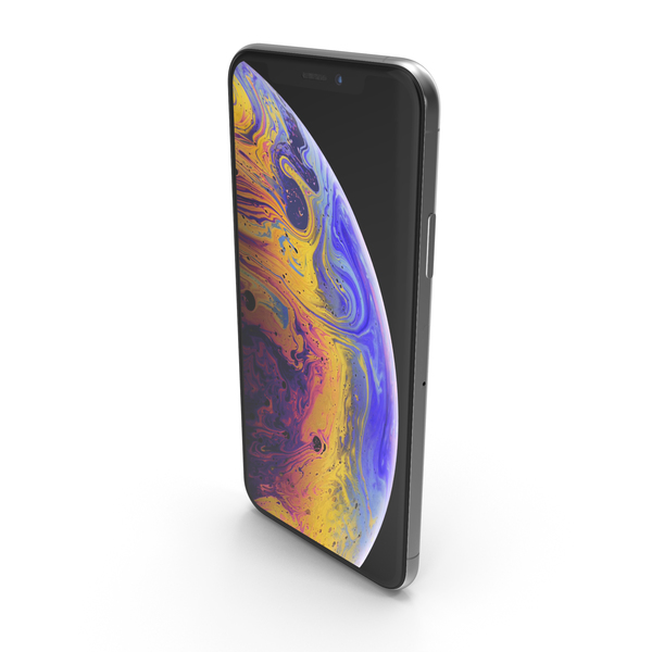 Apple iPhone XS Max Silver PNG & PSD Images