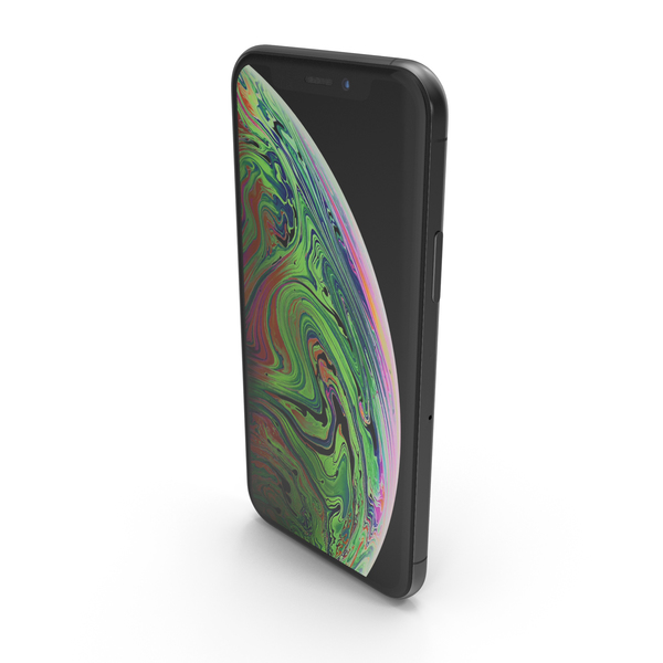 Smartphone: Apple iPhone XS Space Grey PNG & PSD Images
