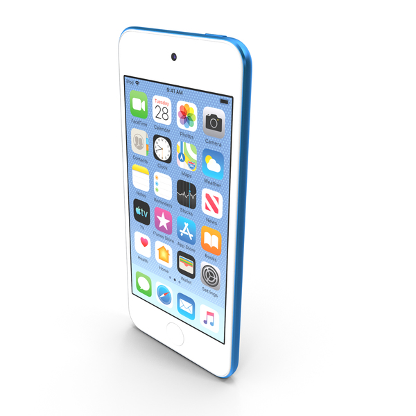 Apple iPod Touch 2019 Blue PNG & PSD Images