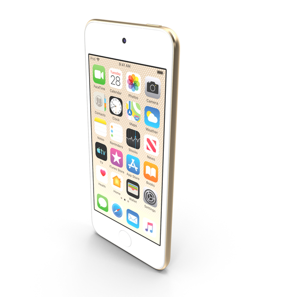 Apple iPod Touch 2019 Gold PNG & PSD Images