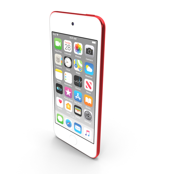 Apple iPod Touch  2019 Red PNG & PSD Images