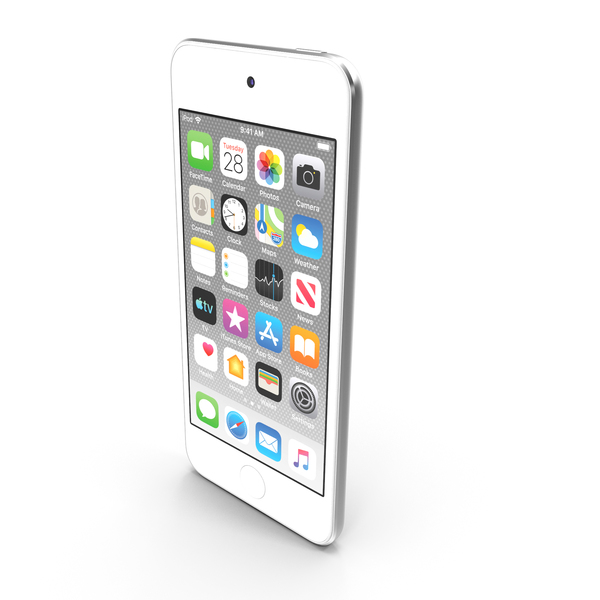 Apple iPod Touch  2019  Silver PNG & PSD Images