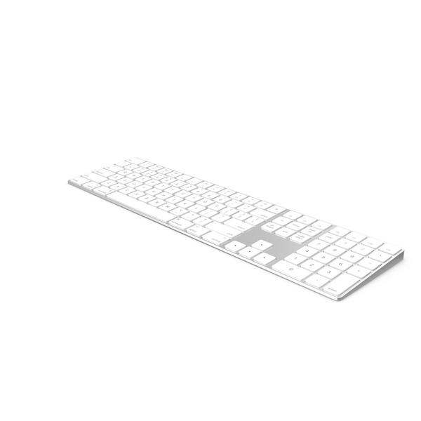 Apple Magic Keyboard Silver PNG & PSD Images