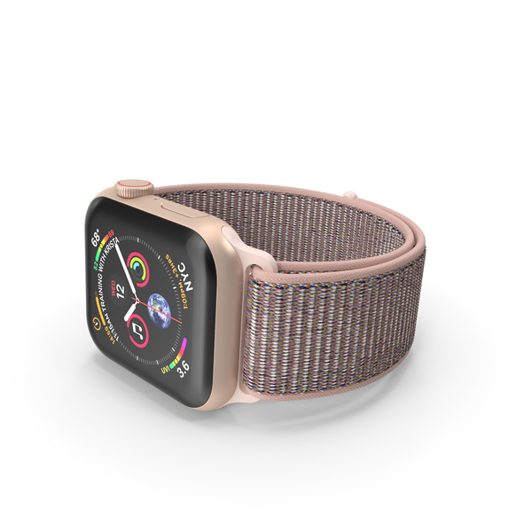Apple Watch 4 Series Gold Aluminum PNG & PSD Images