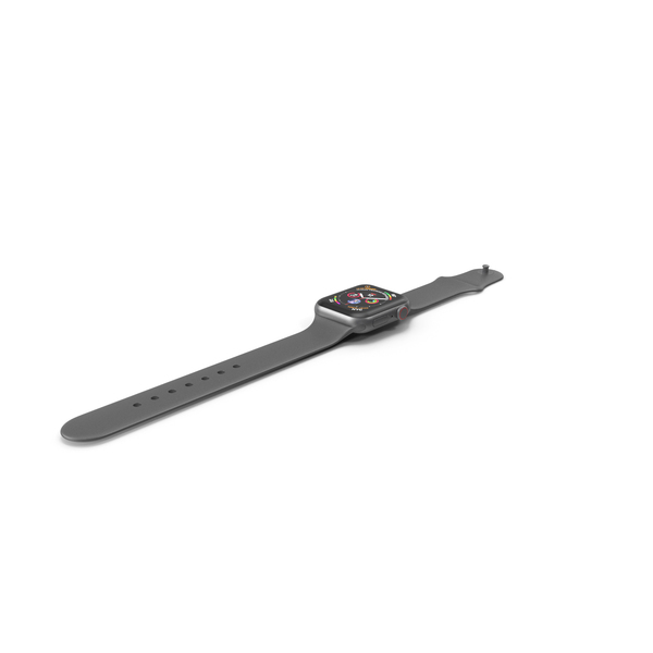 Apple Watch 4 Series Space Gray Aluminum Case PNG & PSD Images