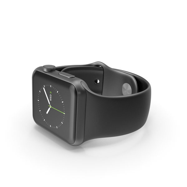 Apple Watch 42mm Space Black Stainless Steel Case PNG & PSD Images