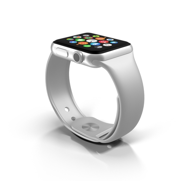 Smart: Apple Watch White PNG & PSD Images