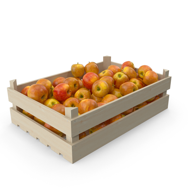 Apple Wooden Crate PNG & PSD Images
