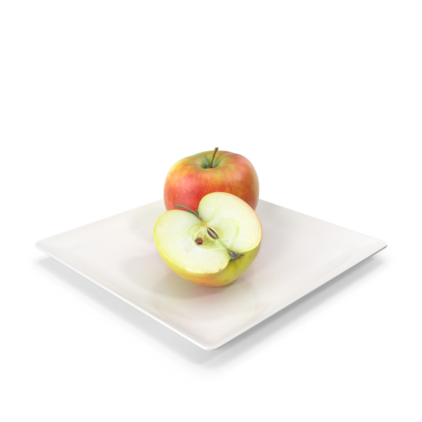 Apples on Plate PNG & PSD Images