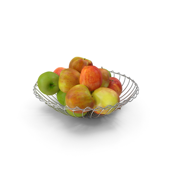 Apple: Apples With Metal Bowl PNG & PSD Images