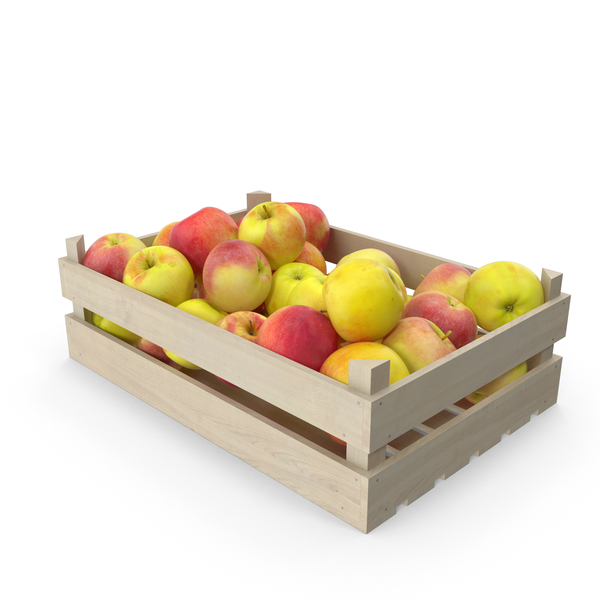 Apple: Apples Wooden Crate PNG & PSD Images