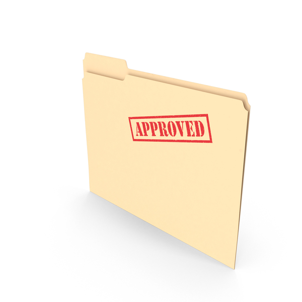 Approved Folder Empty Vertical PNG & PSD Images