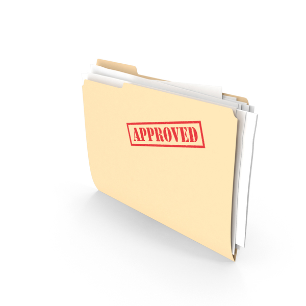 Approved Folder Vertical PNG & PSD Images