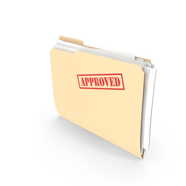 File: Approved Folder Vertical PNG & PSD Images