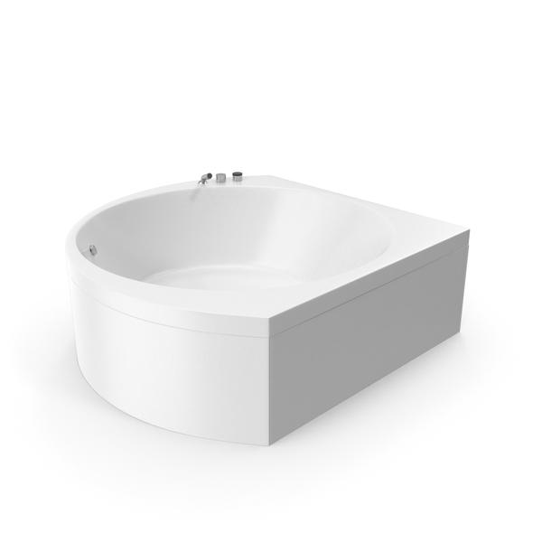 Aquatica Suri Corner Acrylic Bathtub PNG & PSD Images