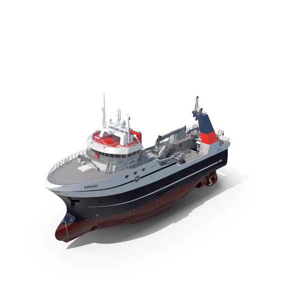Araho Freezer Processor Factory Trawler PNG & PSD Images